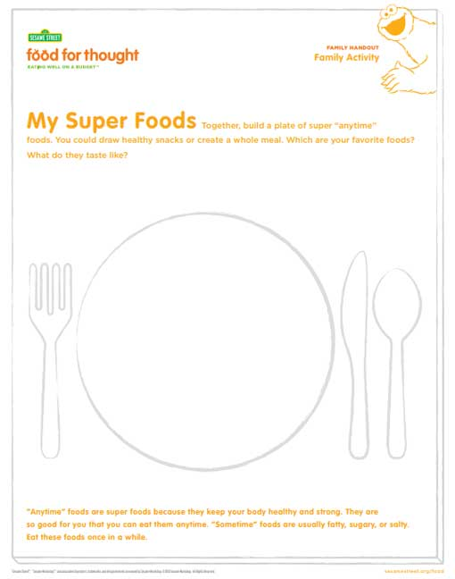food plate drawing activity preview