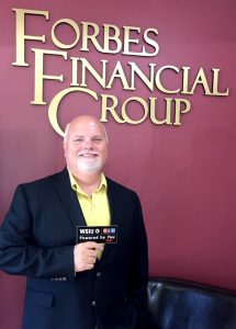 Forbes Financial Group - John with WSIU sticker